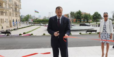 President Ilham Aliyev attended the opening of newly-built secondary school No. 23 in Baku