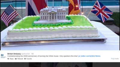 British diplomats apologize for tweets marking 1814 burning of White House with BBQ