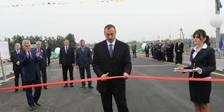 President Ilham Aliyev attended the opening of a bridge