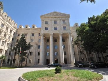"""Foreign Ministry of Azerbaijan: """"The document adopted by the U.S. State of California doesn't have any legal significance"""