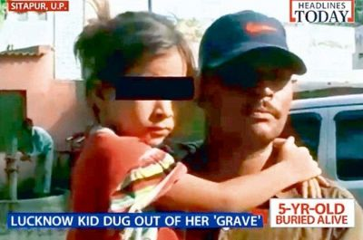 Girl 7, is rescued after being buried alive