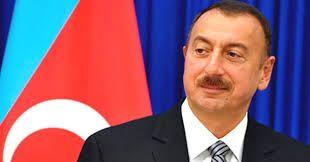 President Ilham Aliyev visited a statue to national leader Heydar Aliyev in Beylagan
