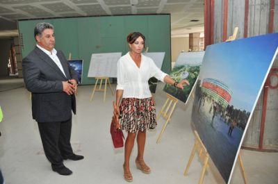 Mehriban Aliyeva inspects construction progress at sports facilities to be used during First European Games