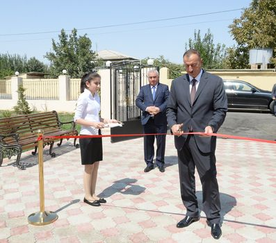 President Ilham Aliyev attended the opening of orphanage-kindergarten No. 2 in Horadiz PHOTO