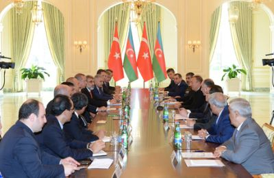 An expanded format meeting of the Azerbaijani and Turkish Presidents
