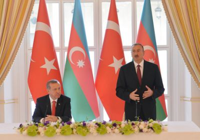 Official dinner reception was hosted on behalf of Azerbaijani President in honor of Turkish President