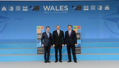 President Ilham Aliyev is attending NATO summit in Wales