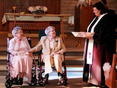 Women married after 72 years as a couple