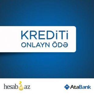 Make credit payment of AtaBank via hesab.az