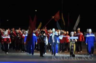Azerbaijani delegation attends opening ceremony of World Nomad Games in Kyrgyzstan