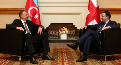President Ilham Aliyev and Georgian PM had a one-on-one meeting