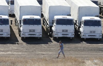 Russia's humanitarian convoy arrives in Lugansk
