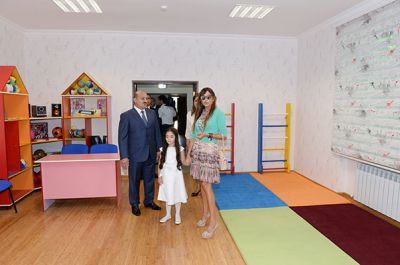 Azerbaijani First Lady reviews orphanage kindergarten after a major overhaul   PHOTO