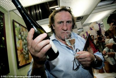 Gerard Deparieu admits to drinking 14 bottles of wine a day