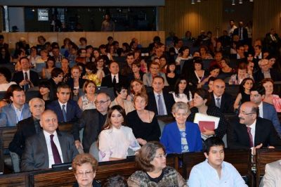 "Azerbaijan's First Lady watches  ""Shadows of Gobustan"" Ballet"