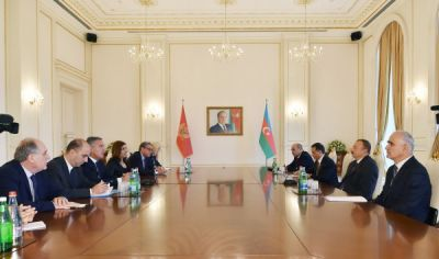 President Ilham Aliyev received a delegation led by the Prime Minister of Montenegro