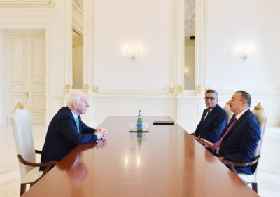President Ilham Aliyev received President of European Olympic Committees Patrick Hickey