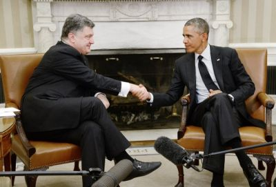 "Ukraine's Poroshenko ""right man for the job"",Obama says"