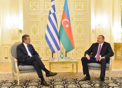 President Ilham Aliyev and PM of Greece held one-on-one meeting