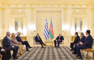 President Ilham Aliyev nad Greek PM Antonis Samaras held an expanded meeting