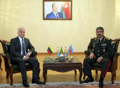 Azerbaijan's Defense Minister meets Lithuanian ambassador to the country