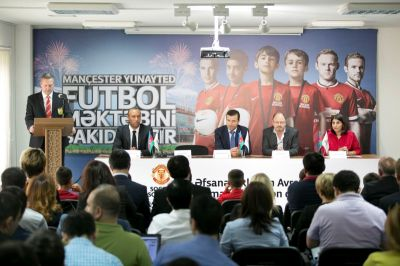 Manchester United Soccer School supported by AFFA and Bakcell launched in Baku