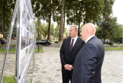 President Ilham Aliyev reviewed the office building of Ismayilli