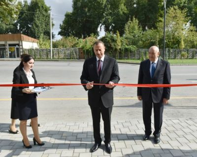 President Ilham Aliyev attended the opening of an office building of Ismayilli District branch of the New Azerbaijan Party
