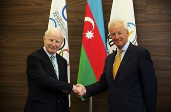 Baku 2015 European Games hosts European Olympic Committees President Patrick Hickey