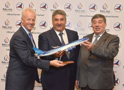 Baku 2015 European Games takes to the skies as Azerbaijan Airlines agrees deal as Official Partner PHOTO