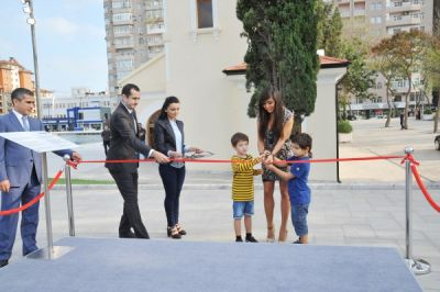 Leyla Aliyeva attends opening of 3D graffiti project at Dada Gorgud Park