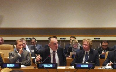 Elmar Mammadyarov made a statement at the OSCE Ministerial Event in New-York