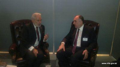 Minister Elmar Mammadyarov met with his Nicaraguan counterpart