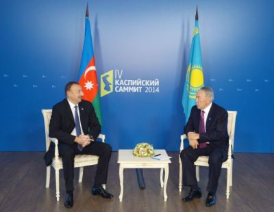 President Ilham Aliyev met with his Kazakh counterpart