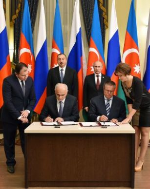 The Azerbaijani and Russian governments signed a document in Astrakhan