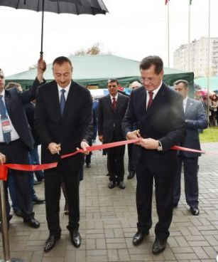 "President Ilham Aliyev attended the opening of the ""Friendship"" kindergarten"