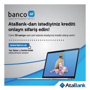 Order credits of AtaBank via Banco.az