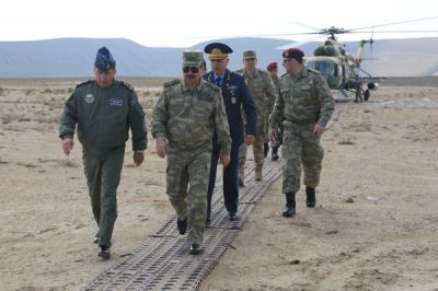 Minister Zakir Hasanov observes joint exercises of Azerbaijani and Turkish Air Forces