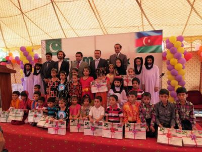 A charity event of the Heydar Aliyev Foundation for orphans in Islamabad