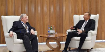 Ilham Aliyev received former President of Lithuania