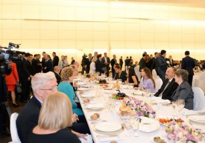 Dinner reception was hosted on behalf of Ilham Aliyev in honor of the participants of the 4th Baku International Humanitarian Forum  PHOTO