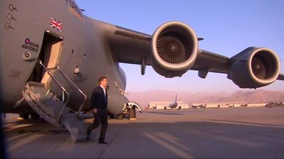 British PM arrives in Afghanistan