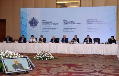 "New Development Trends"" round table held within 4th Baku International Humanitarian Forum"