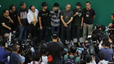 Hong Kong cancels talks with protesters
