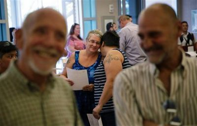 Gay couples get married in Las Vegas