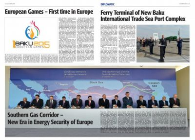 Holland Times wrote about the many-branched development in Azerbaijan