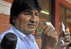 Bolivia's Morales elected to third term