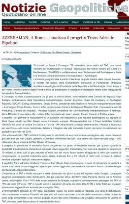 Notizie Geopolitiche: TAP is significant for Italy's energy market