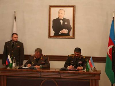 "Azerbaijani and Russian Defense Ministers sign ""the Cooperation Plan for 2015"""