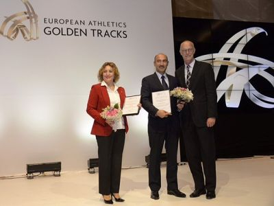 Baku 2015 European Games Athletics competition manager  honoured by European Athletics Association